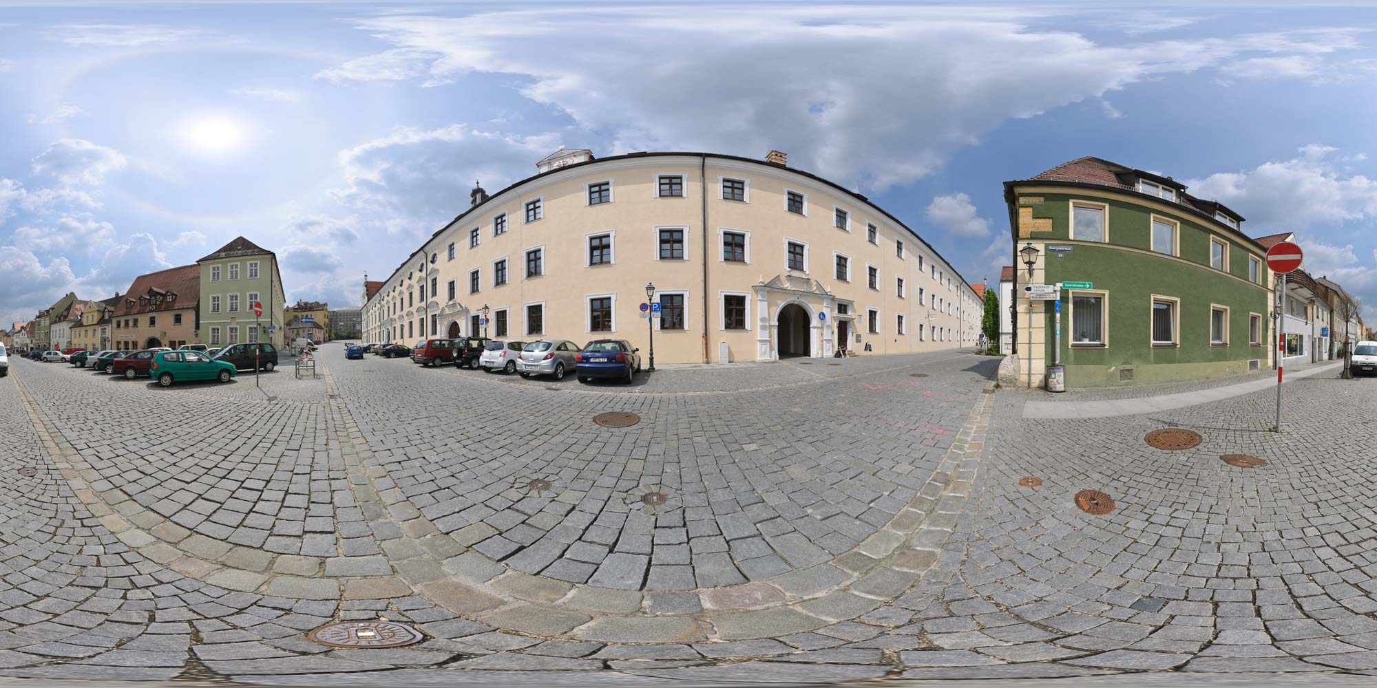 Panorama  Amberg - Malteserplatz
