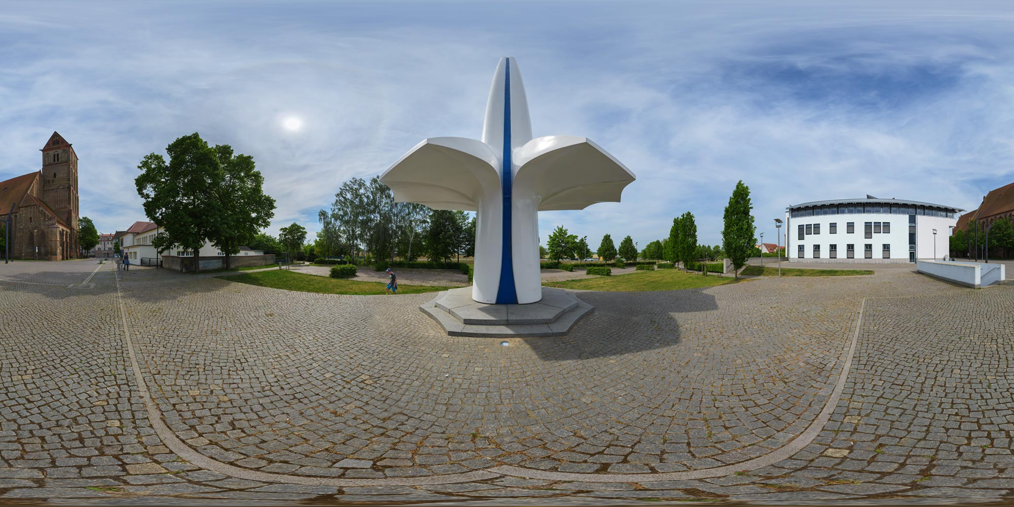Panorama  Anklam - Lilienthal-Denkmal