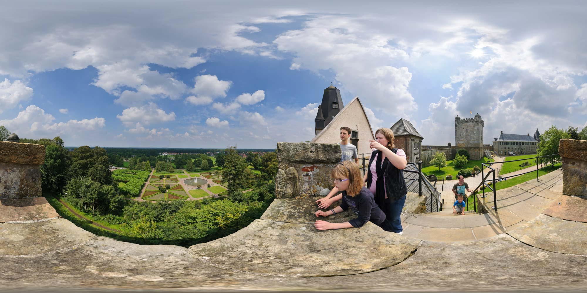Panorama  Bad Bentheim - Schloss - Aussicht Nord