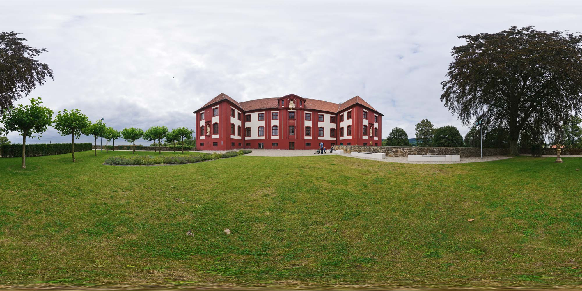 Panorama  Bad Iburg - Schloss Iburg - Front