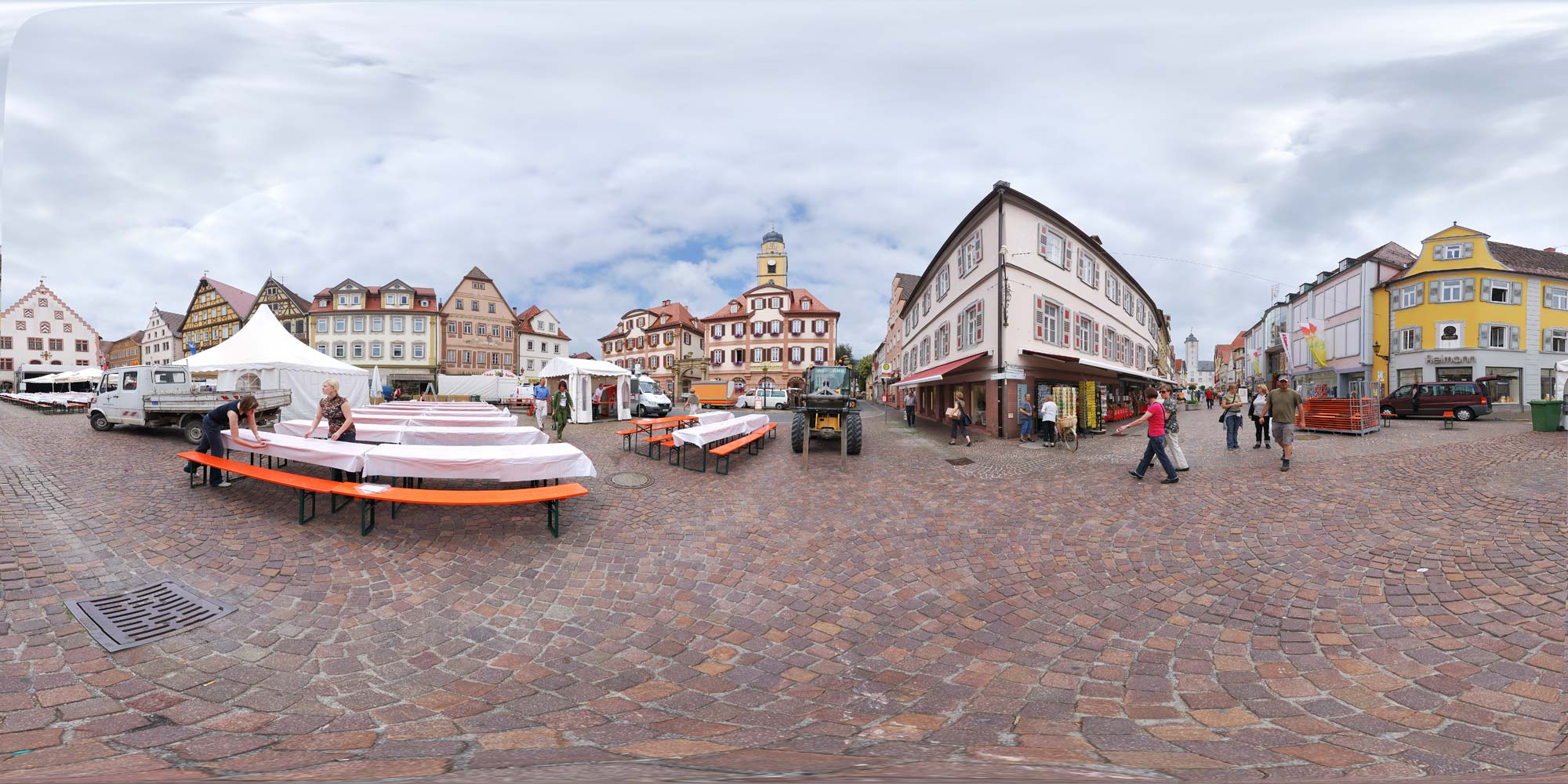 Panorama  Bad Mergentheim - Marktplatz