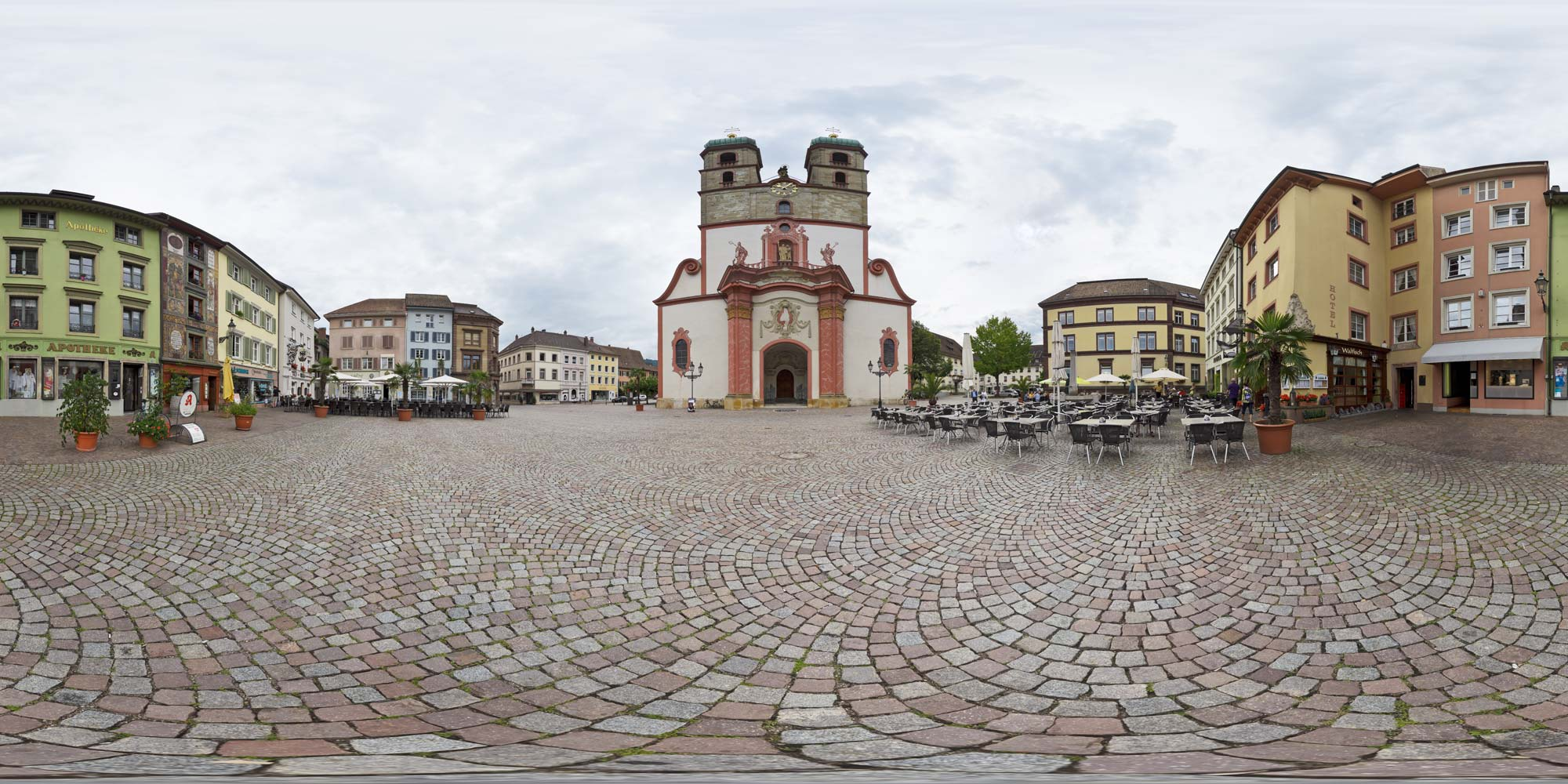 Panorama  Bad Säckingen - Münsterplatz