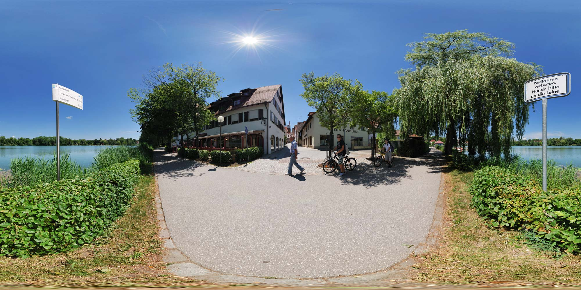 Panorama  Bad Waldsee - Am Stadtsee