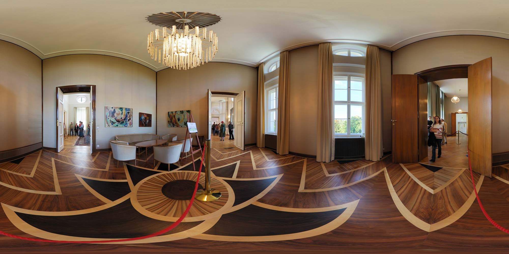 Panorama Berlin Schloss Bellevue - Salon II