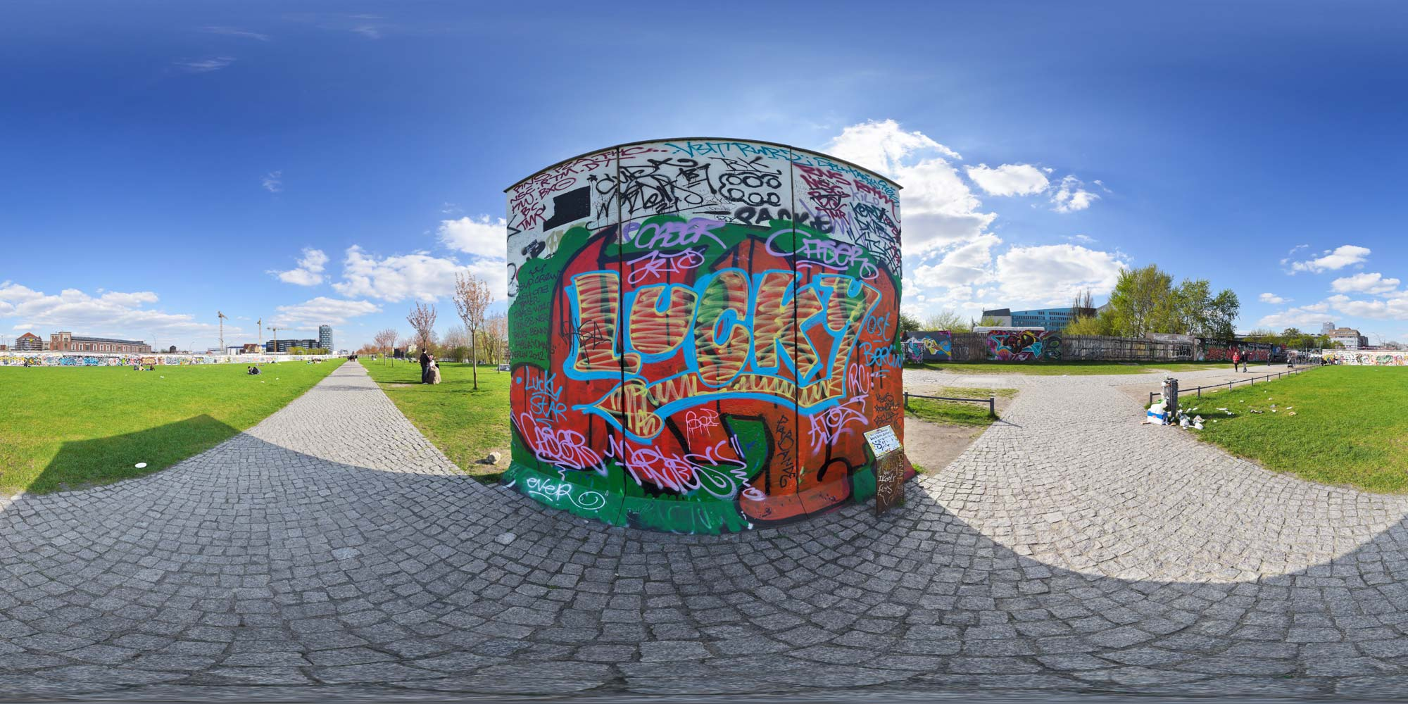 Panorama Berlin Eastside Gallery - Westseite