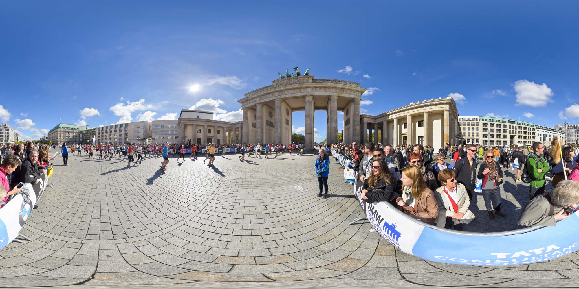 Panorama Berlin Brandenburger Tor - Marathon 2013
