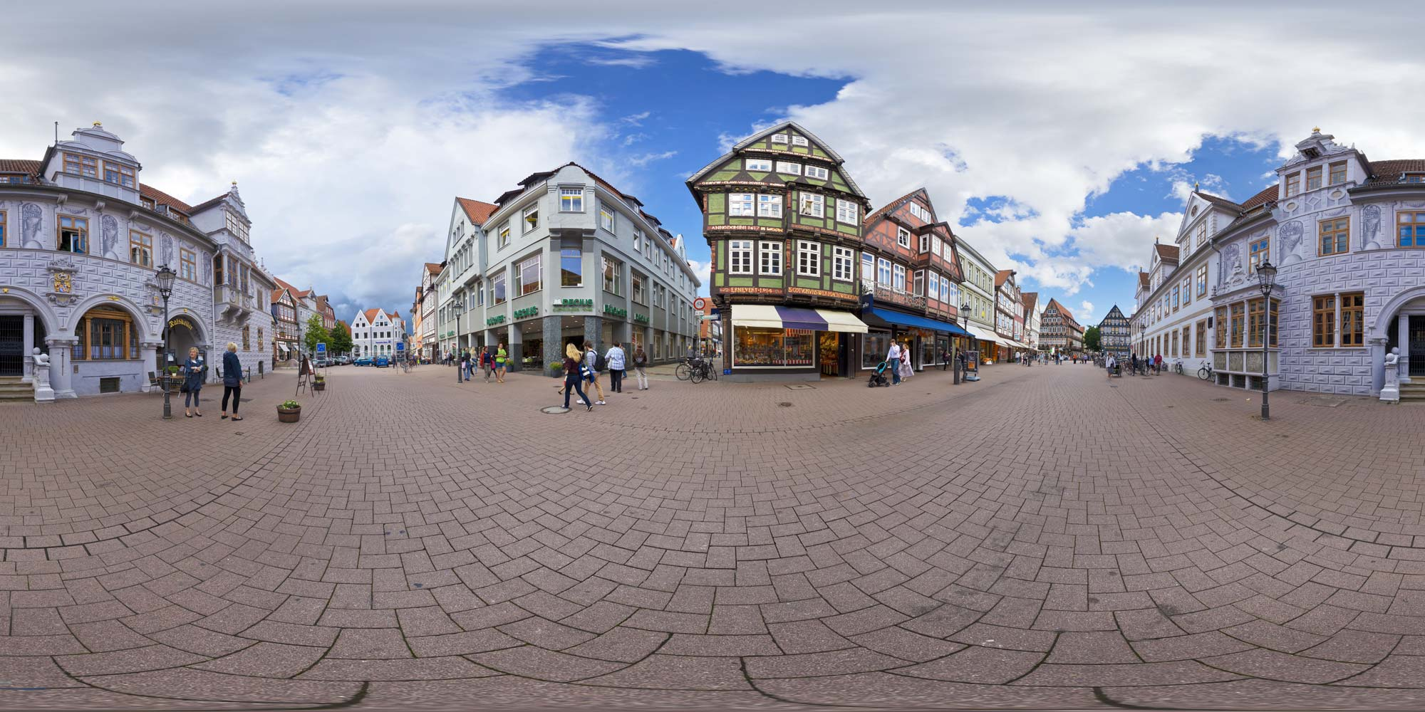 Panorama  Celle - Markt