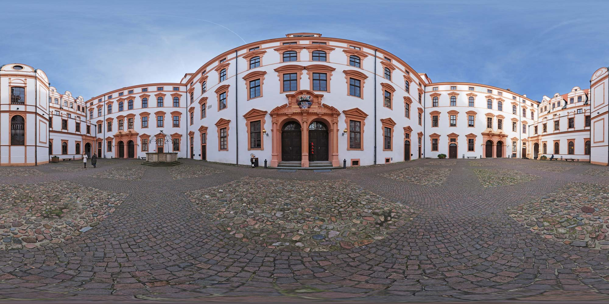 Panorama  Celle - Schloss - Schlosshof