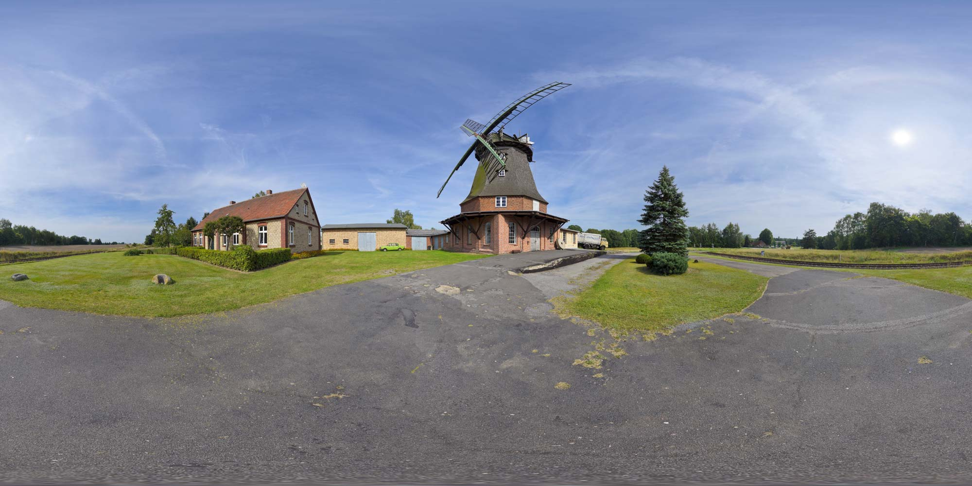 Panorama  Windmühle Dabel - Ansicht 2