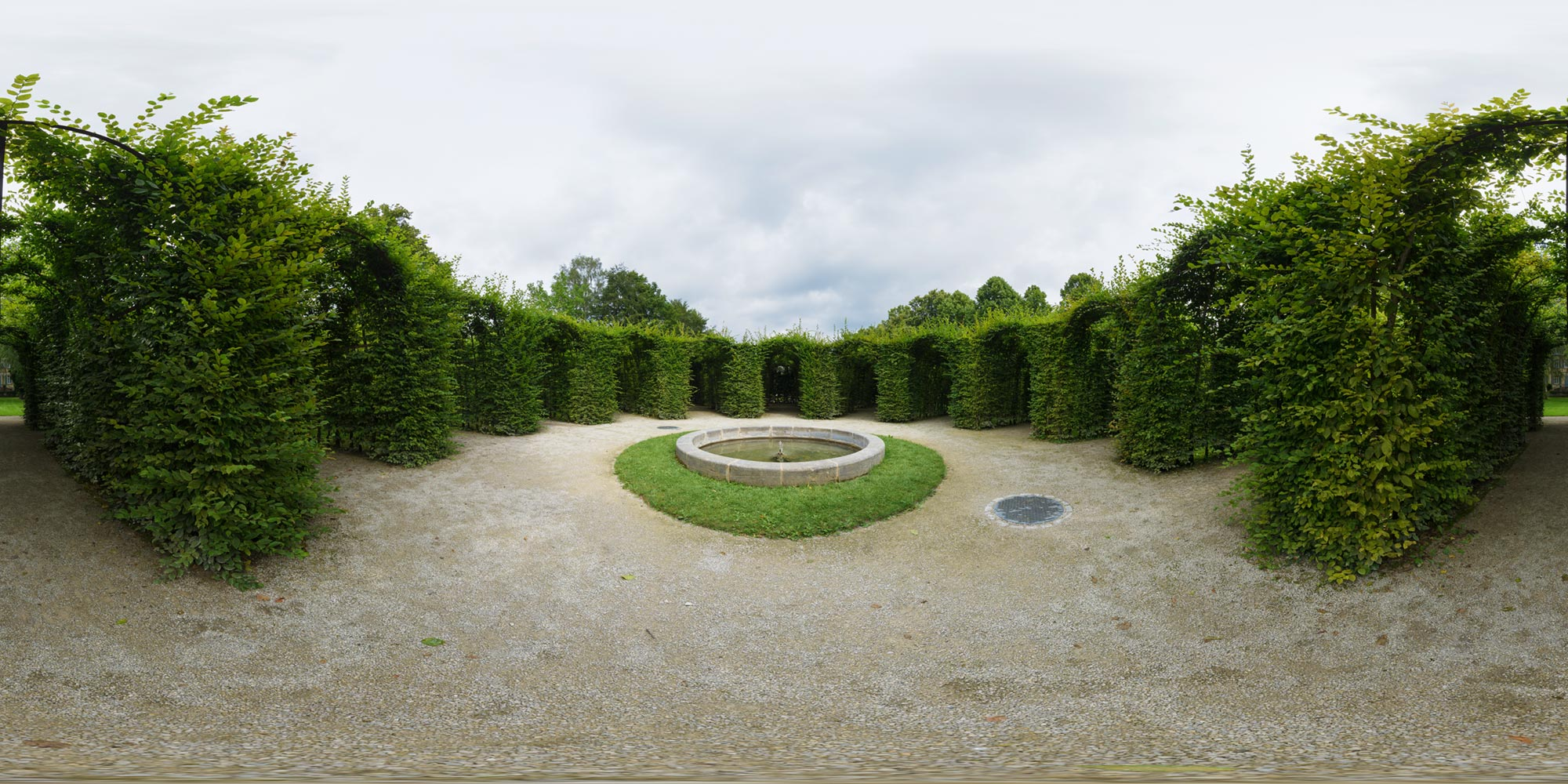Panorama  Schloss Fantasie - Labyrinth
