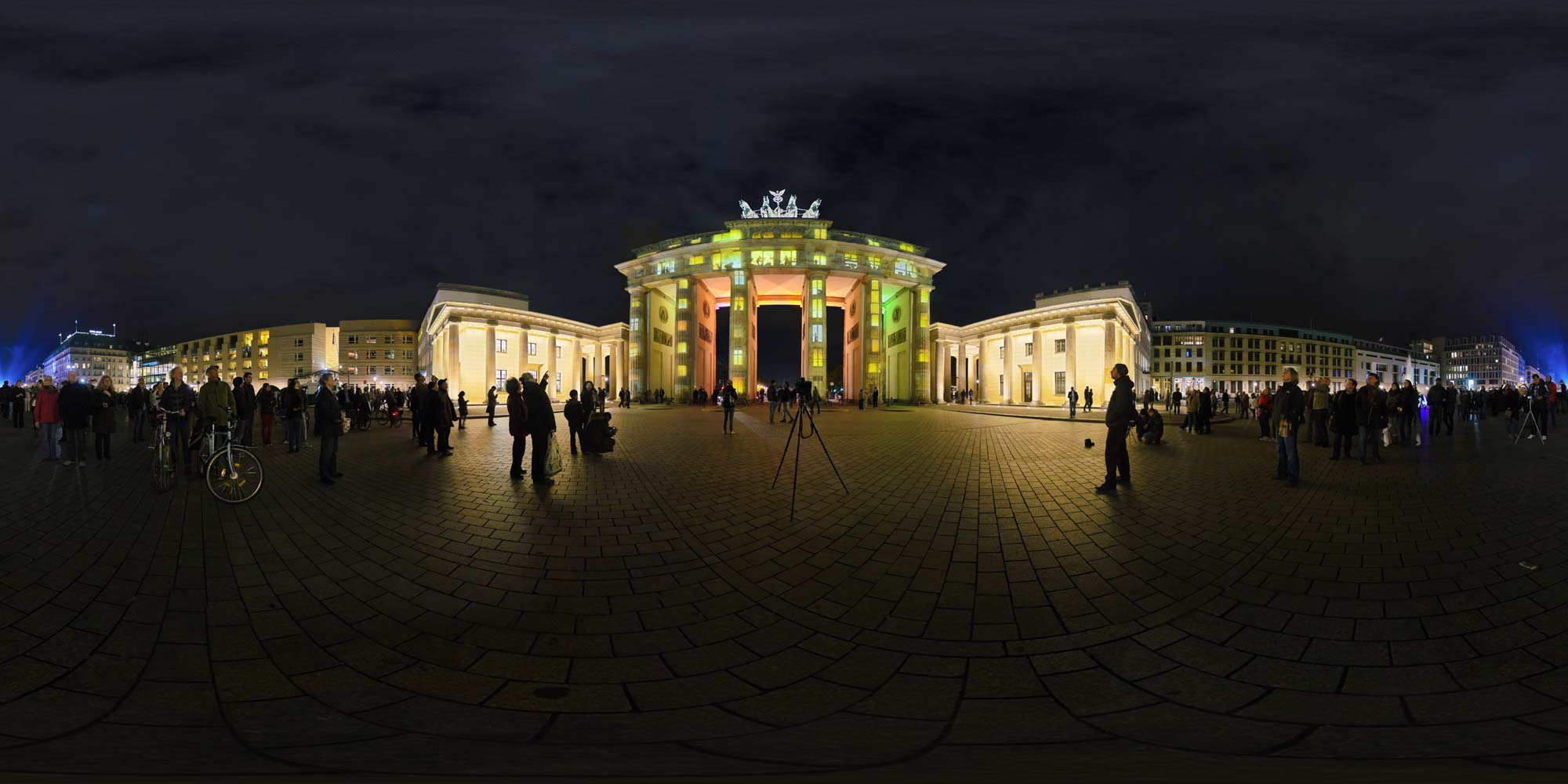 Panorama Berlin Festival of Lights - FOL 2012 Brandenburger Tor