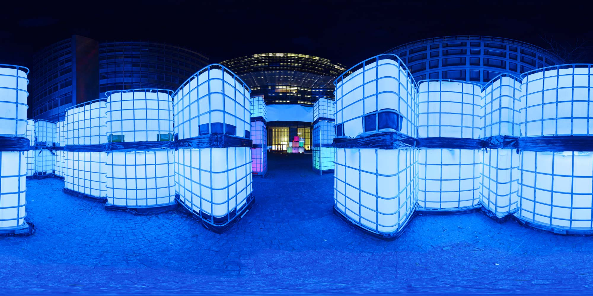 Panorama Berlin Festival of Lights - FOL 2013 Labyrinth am Kranzlereck