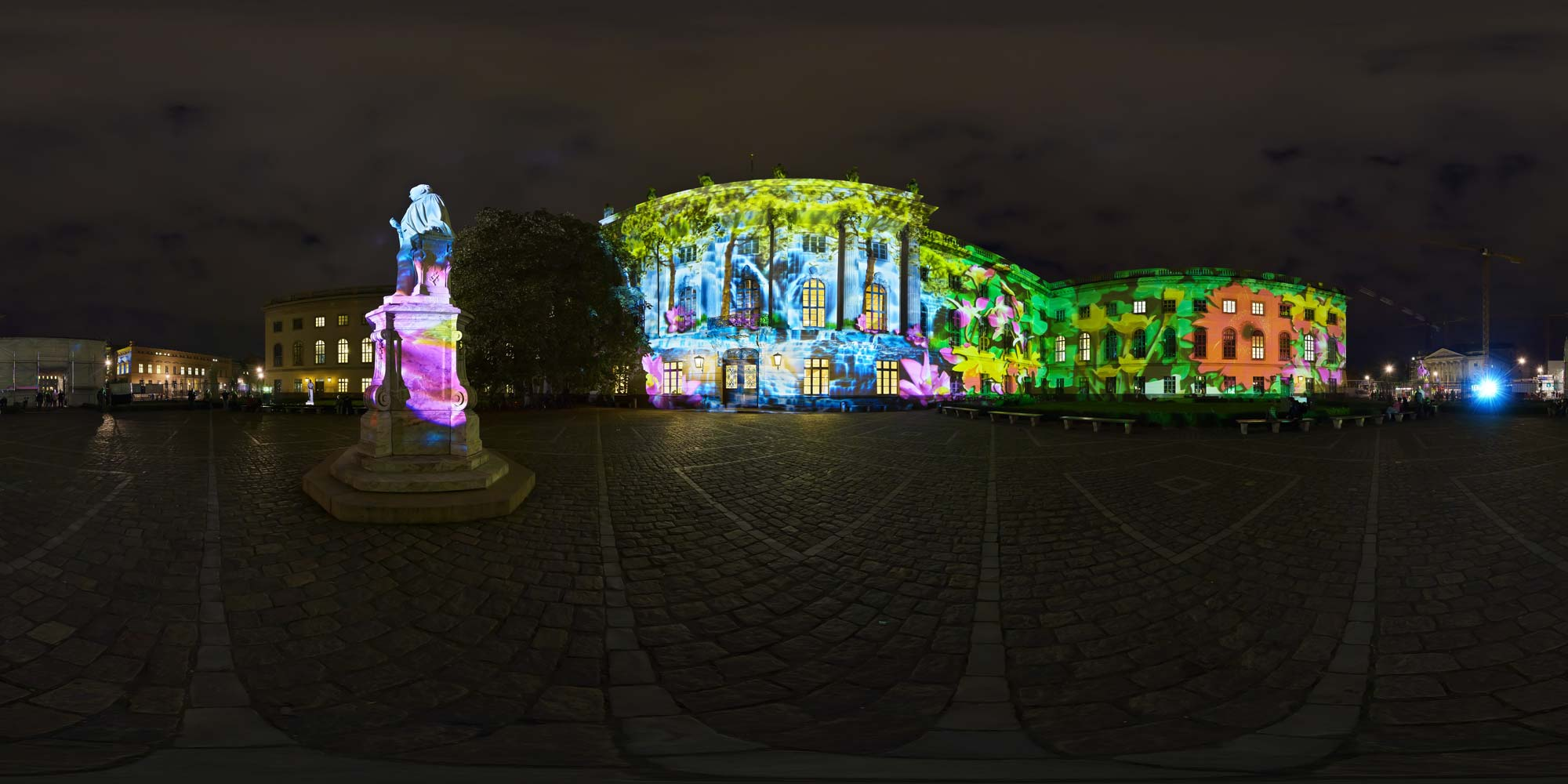 Panorama Berlin Festival of Lights - FOL 2014 Humbold Universität