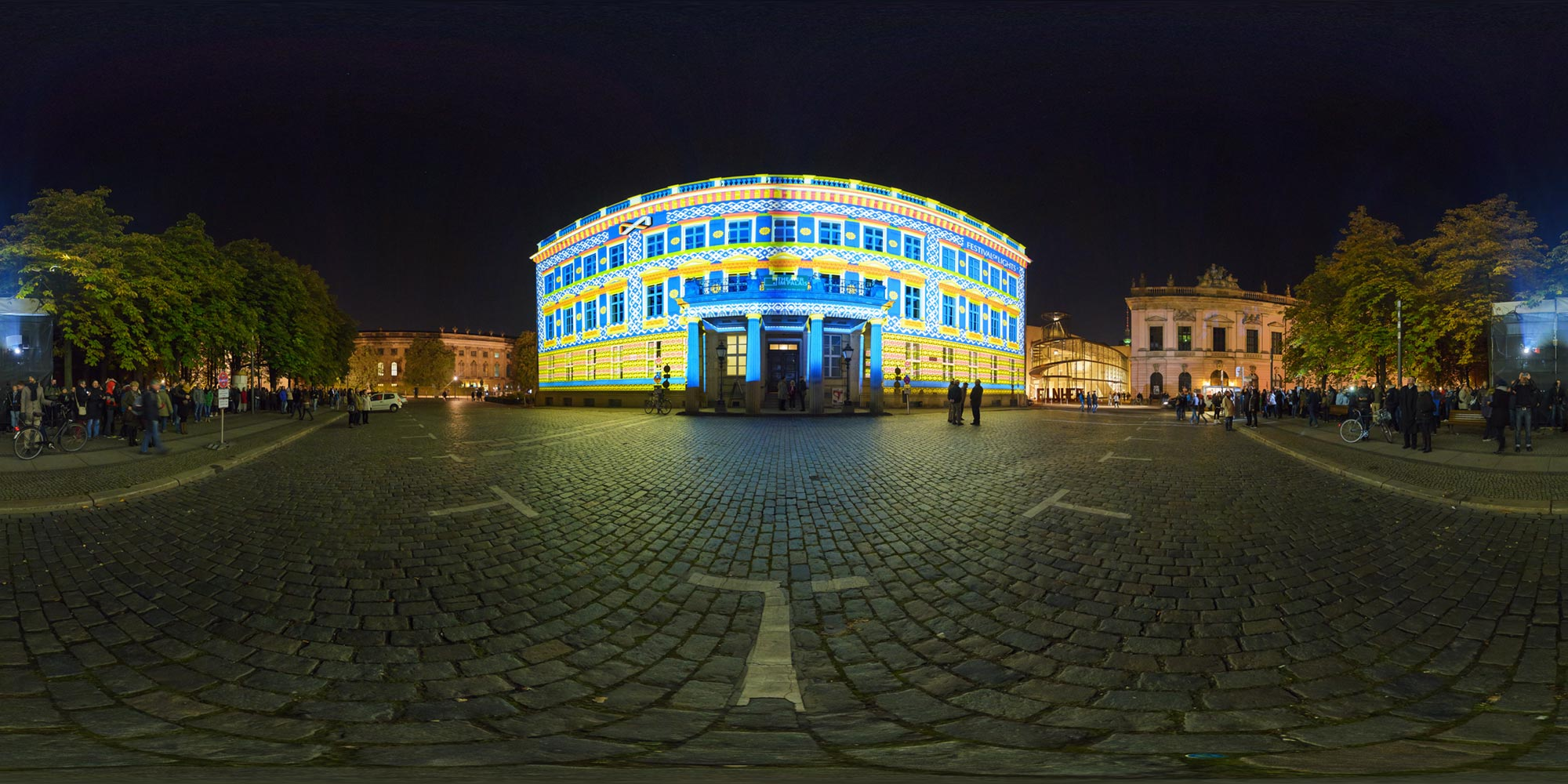 Panorama Berlin Festival of Lights - FOL 2015 Palais am Festungsgraben