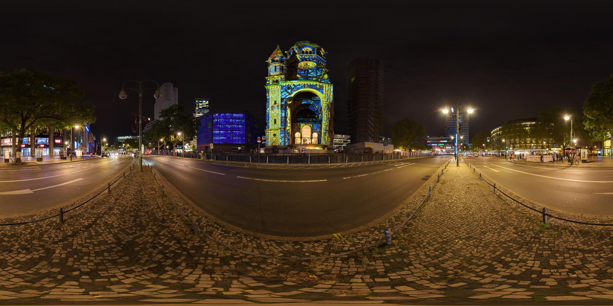 Panorama Berlin Festival of Lights - FOL 2019 Gedächtniskirche