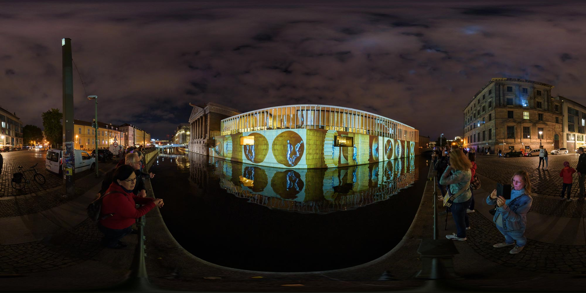 Panorama Berlin Festival of Lights - FOL 2019 James-Simon-Galerie