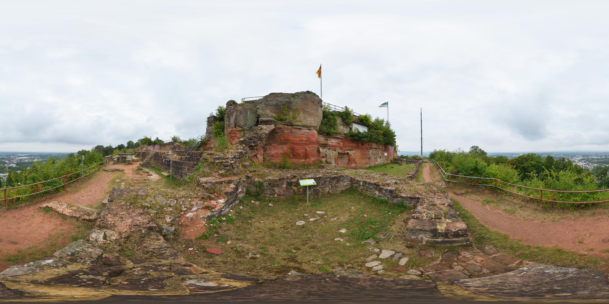 Panorama  Homburg - Festung - Backofen