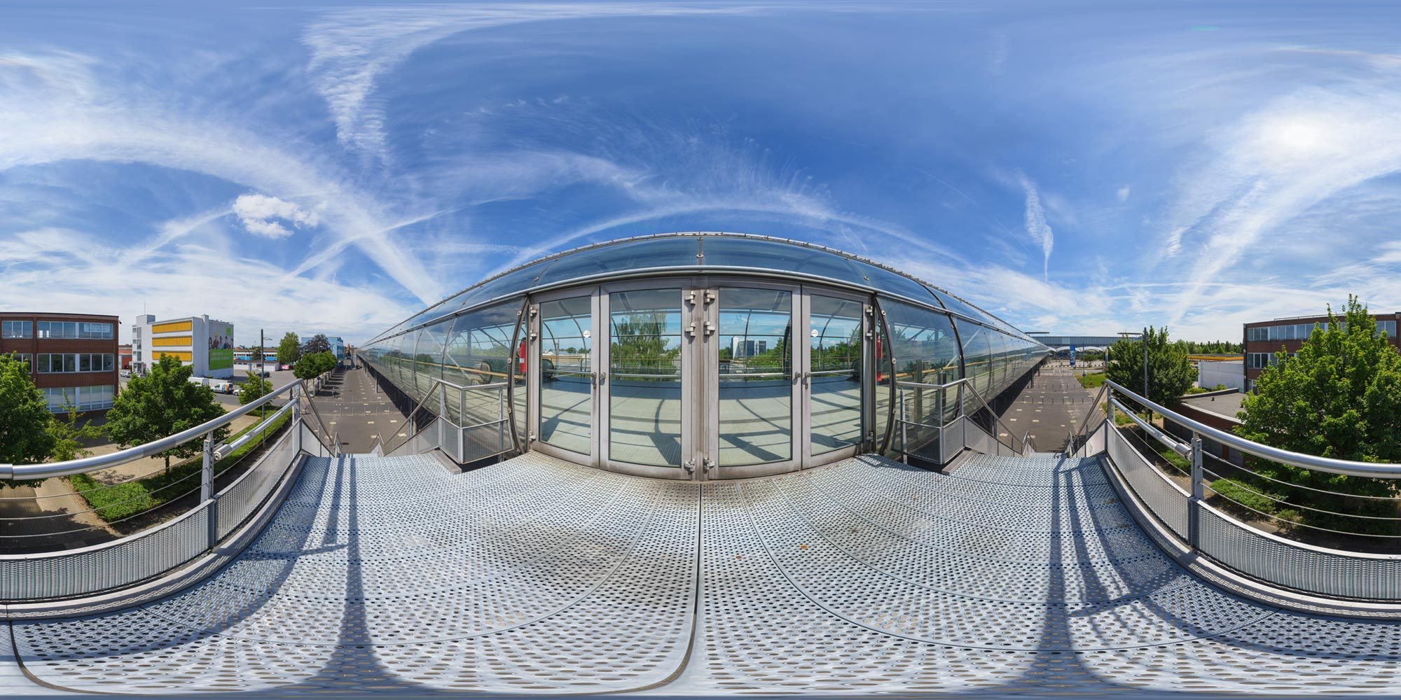 Panorama  Laatzen Hannover Messe Expo - Skywalk
