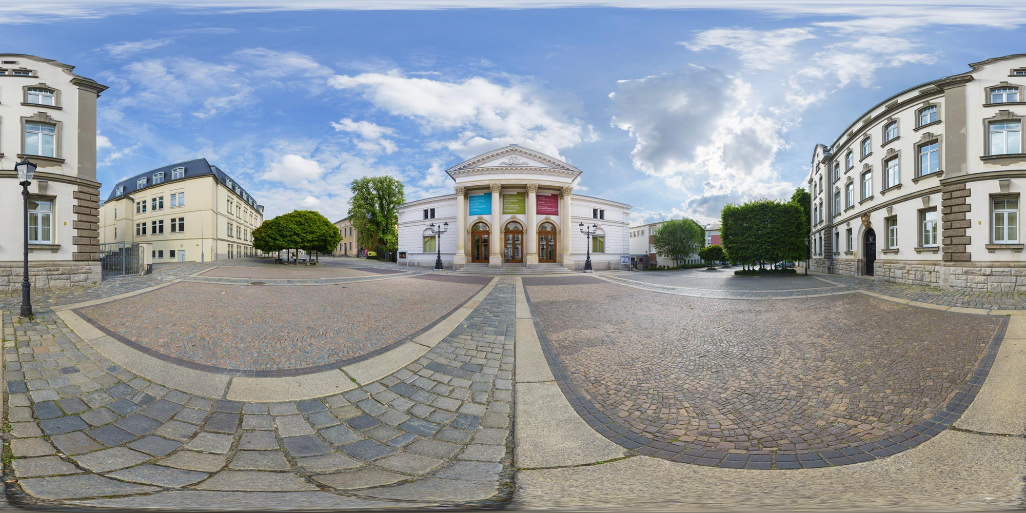 Panorama  Plauen - Theaterplatz