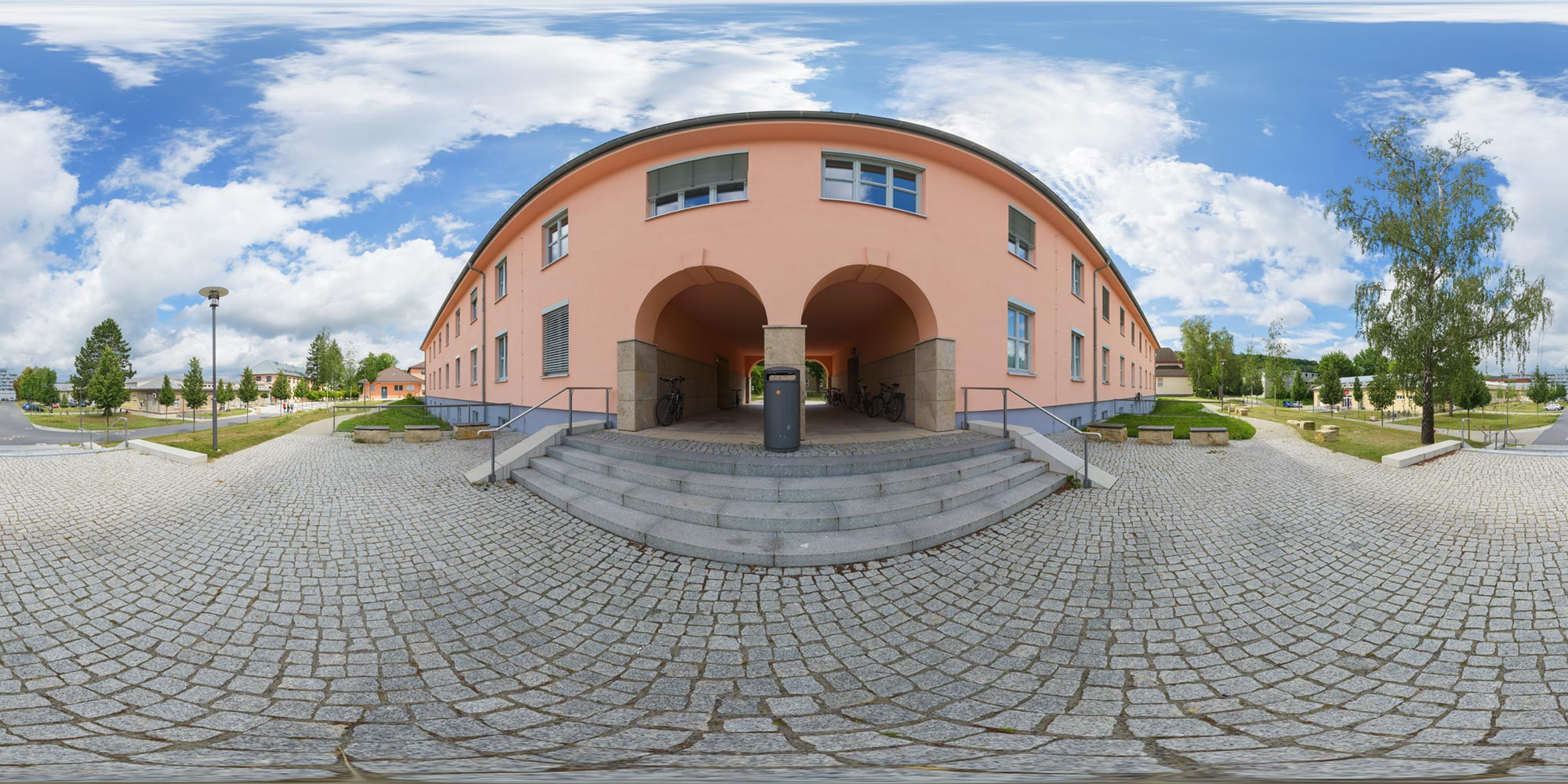 Panorama  Universität Golm - Torbogen