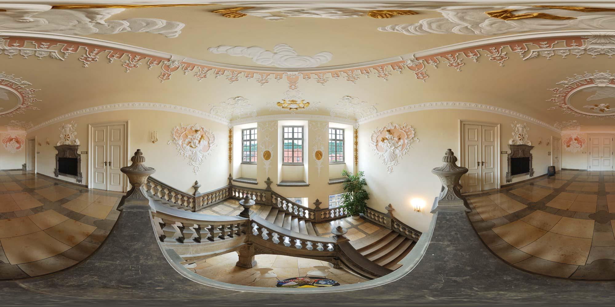 Panorama: Schwäbisch Hall - Rathaustreppe • Karte • interaktiv