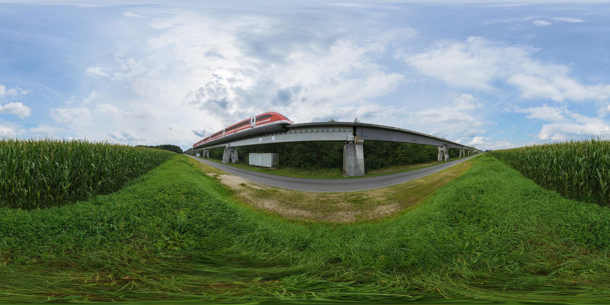 Panorama  Transrapid - Strecke + Maglev Montage