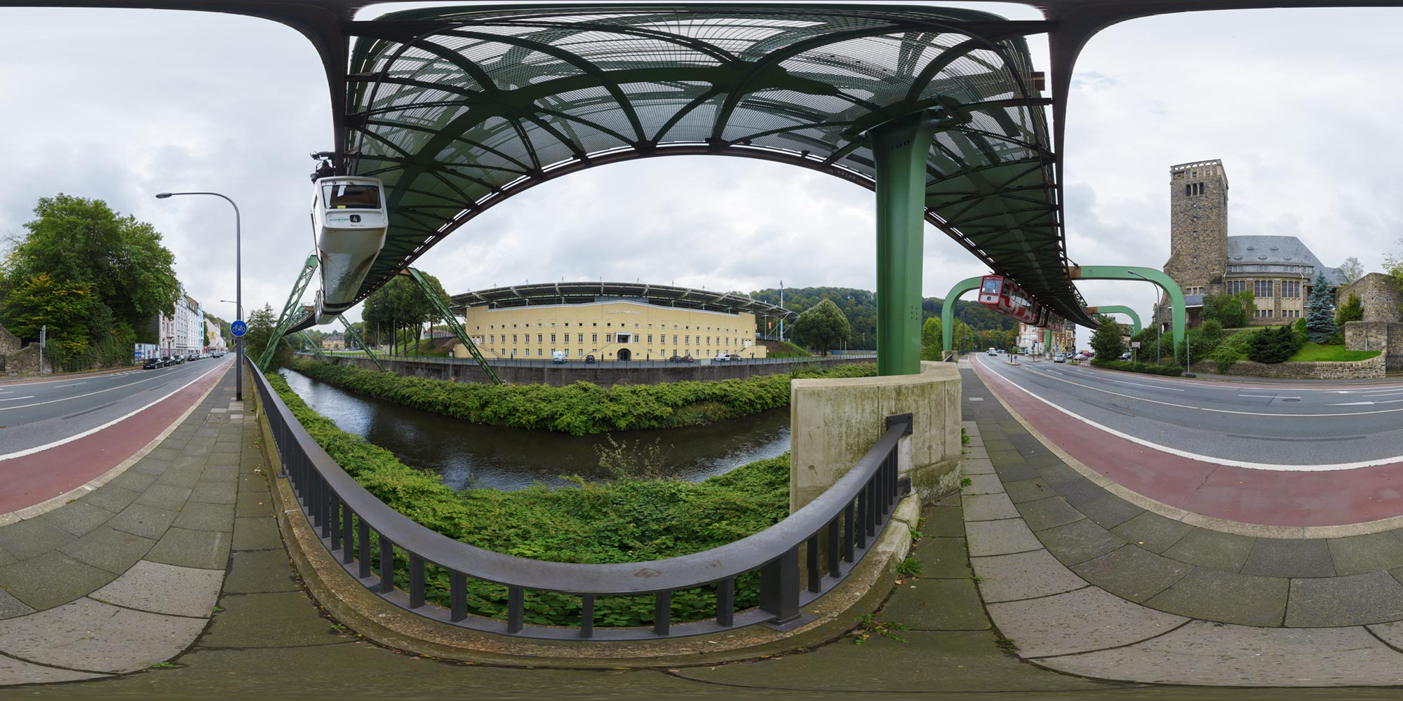 Panorama  Wuppertal - Sonnborner Ufer