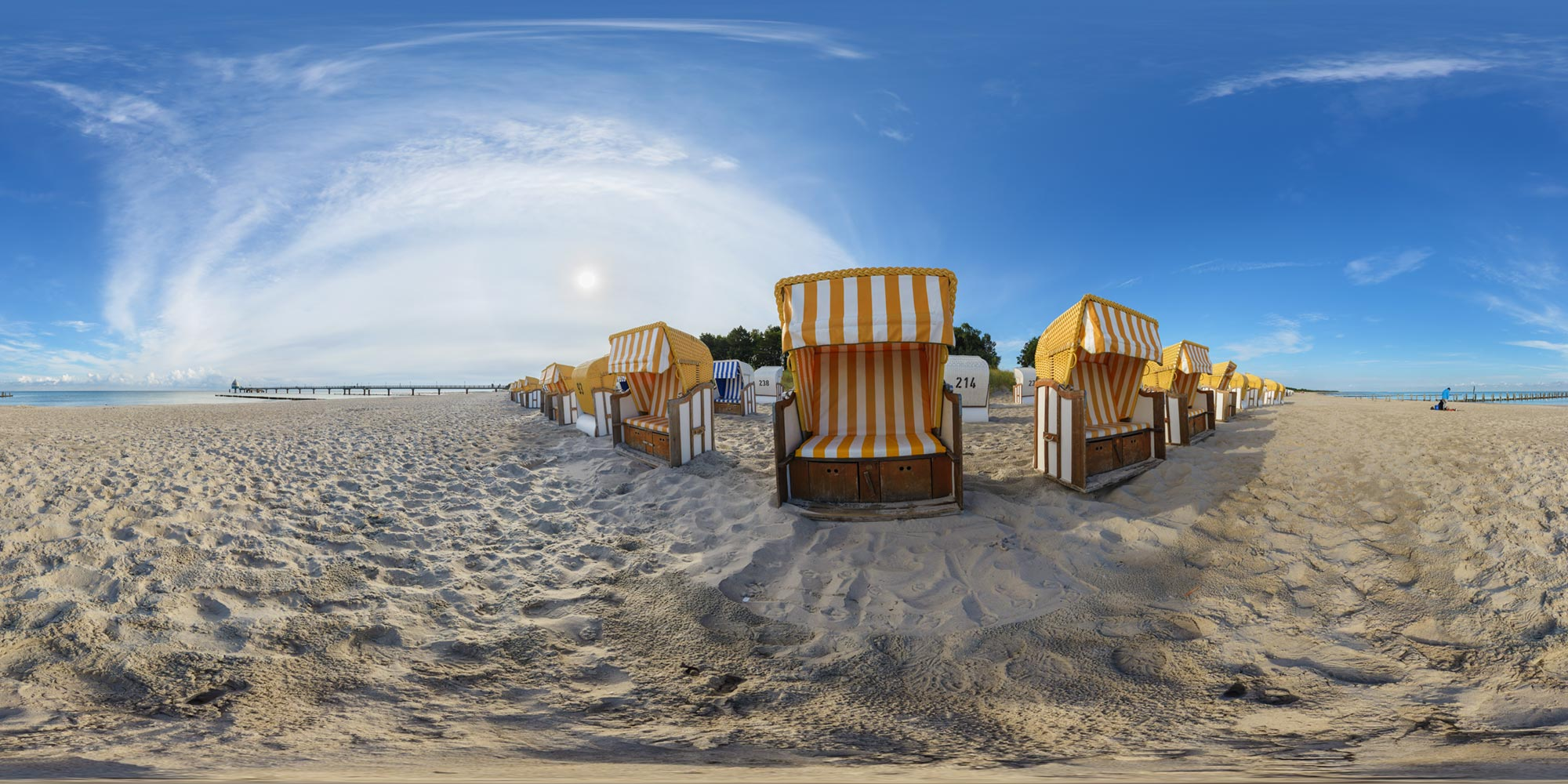 Panorama  Fischland - Zingst - Strand